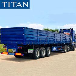 Promoción (Spot) China 3 Ejes Drop Panel lateral lateral Triaxle Remolque con placas de pared lateral de la camión de transporte de carga de grano semi remolque para venta fabricantes