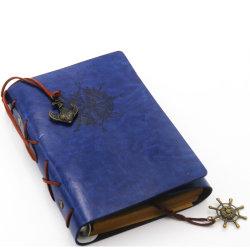 Cubierta de cuero Retro diario de papel en blanco diseño pirata Note Book