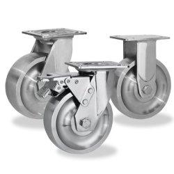 Alle Edelstahl Heavy Duty Trolley Solid Hand Truck Reifen Rollen Mit Omni-Rollen