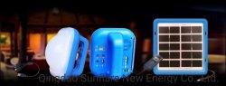 Portátil de emergencia de la radio FM/MP3/SD puertos IP65 Batería Recargable linterna LED solar al aire libre para viajar y de la luz de Senderismo