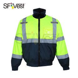 분리형 플리스 라이닝 리플렉티브 하이비즈 유니폼안전 재킷