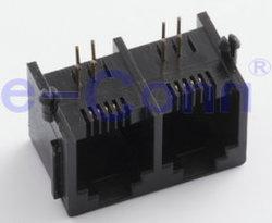 Rj 45 женщин 90° DIP-модульные разъемы печатной платы разъема кабеля и разъема для мобильного телефона