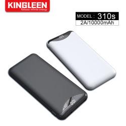طراز عصري صغير سعة 10000 مللي أمبير/ساعة طراز ثنائي USB شاحن محمول بنوك طاقة مزودة بشاشة LCD رقمية متوافقة مع بطارية خارجية iPhone وiPad Samsung Huawei Xiaomi