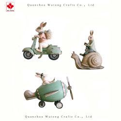 OEM-Полимер ремесел интерьер мультфильм животных кролик фигурка