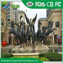 Im Freien kundenspezifische lebensgrosse Pferden-Bronzen-Statue-Metalskulptur