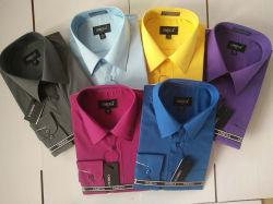 Venda por grosso de cor sólida Personalizado Mens blusa vestir camisas com cintas
