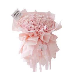 Wasserdichtes PVA Mist Film Wrapping Blumenpapier mit Schwanenmuster Design Druck für Valentinstag Geschenk Verpackung