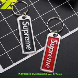 Berufs-Soem-Fabrik passte an, 2D 3D Keychain Weiche/emailliert stark Form-Andenken-Schlüssel-Halter-Silber überzogenen fördernden Schlüsselring mit Firmenzeichen (KC34)