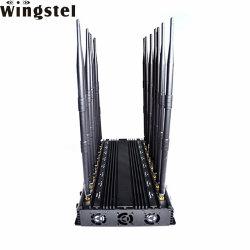 広帯域Jammer 16 Bands Telephone GSM 2g 3G 4G GPS Satellite Signal Jammer