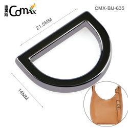 Kundenspezifischer schwarzer Metallgroßhandelsring der Zink-Legierungs-20mm, Nickel-Freier D Faltenbildung-Ring des Berufsentwurfs-für Beutel