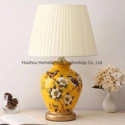 Jl065 decoración colorida Cerámica pintada a mano el patrón de la lámpara de mesa
