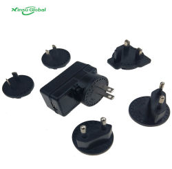 Bouchon International interchangeables Adaptateur chargeur USB universel de l'alimentation 5V 1A 1.5A 2.5A 2A 3A