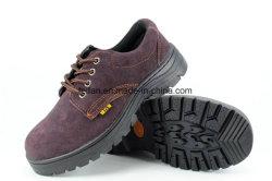 Top Calçado de segurança Boa qualidade de couro camurça com Corte Baixo