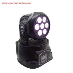 7X12W 단계 DMX 직업적인 이동하는 헤드 LED 세척 점화