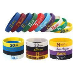 Braccialetto di gomma del silicone del Wristband del silicone di colore Mixed multicolore con il marchio su ordinazione