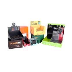 El PDQ contiene un cuadro de embalaje minorista para cigarrillo electrónico, Papel cartón Expositor, Cuadro de papel contador baratos