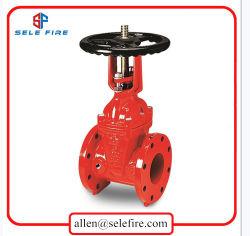 Brandbestrijdingsapparatuur 200 psi UL/FM-goedgekeurd gegroefde flensuiteinden resistent OS&Y-schuifklep, 300 psi UL/FM-gecertificeerde schuifafsluiters, type met ductiele ijzeren stijgleiding Schuifklep