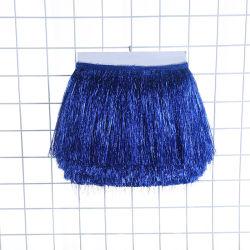 La alta moda brillante encajes Bling Bling Fringe guarnecido de la borla de baile vestido