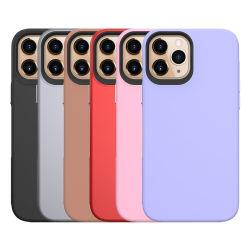 Het in het groot Geval van Cellphone van de Steen van de Manier Duidelijke voor iPhone 12 Massa van de Dekking van de Gevallen van de Telefoon van PC TPU de Roze Mobiele