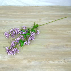 Adornos de boda Toque Natural disposición Artificial Bouquet de flores de seda lila
