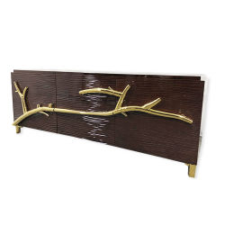 تصميم بسيط جديد من الخشب الصلب اللامع الكلاسيكي عالي الجودة خزانة تلفزيون أثرية لأثاث غرفة المعيشة