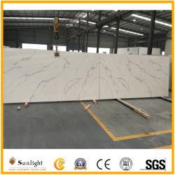 Countertops/Vanity-Tops를 위한 Popular Artificial Pure White 또는 Yellow/Black/Grey/Crystal/Pink/Green/Red/Sparkles/Calacatta Quartzite Slabs Quartz Stone를 주문을 받아서 만드십시오