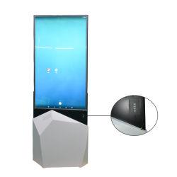 細いOLEDを広告するためにプレーヤーを広告するLCD両面のデジタルの表記を立てる工場アウトレット55inchの床