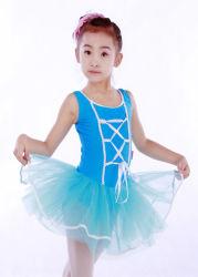 Обучение детей ТАНЦПЛОЩАДКА COSMETICS Балетные костюмы танца девочек Туту Leotard Camisole синего цвета с юбки