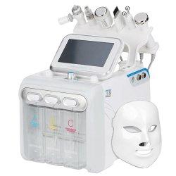 다기능 Hydrafacia 7 in 1 H2O2 페이셜 케어 RF 스킨 산소 버블 딥 클린(Big Bubble Deep Clean)을 들어올리면 피부 관리 장비가 밝아집니다
