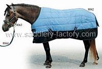Теплого синего цвета для установки внутри помещений Зимой катание ковры лошадь одеяло (SMR1521)