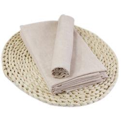 純粋なカラー二重層の綿のガーゼの綿の灰色ファブリック