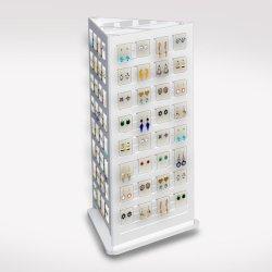 La fábrica transparente acrílico blanco pendientes Mostrar tienda