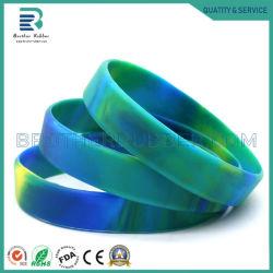 Bracelet en caoutchouc de silicone de la bande de mode bracelet avec conception gravé