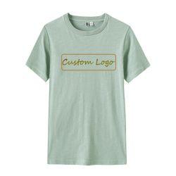 De in het groot van het Katoenen van 100% de o-Hals Embleem van de Douane Lege T-shirt van Vrouwen