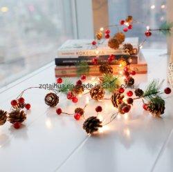 [لد] [كريستمس ليغت] حارّ يبيع جديد أسلوب صنوبر إبر صنوبر يشعل مخروط [بلّس] [إينس] زخرفة خيط أضواء لأنّ عيد ميلاد المسيح هبات