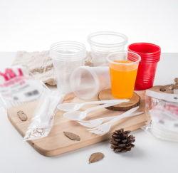 De Vork pp van het Bestek van pp vormt Witte Beschikbare Plastic Lepel tot een kom