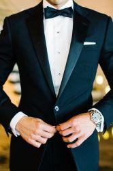 رجال زفاف أسود يناسب الغُرفة الرسمية رجال الأعمال Tuxedos M14918