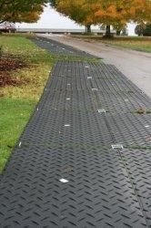 Горячая продажа свободного доступа Установите противоскользящие кнопку структура полиэтилена HDPE Gorund защиты коврики/пол коврики для защиты