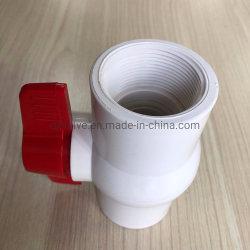 Clapet à bille plastique PVC Compact avec téflon Joint de soupape de siège