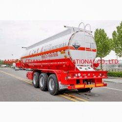 3 차축 산 알카라인 케미칼 용매 솔루션 액체 용기 벌크 트럭 트레일러 트랙터 중부하 작업용 드럼 유틸리티 트레일러 오일을 배송합니다 연료 세미 트레일러 탱커