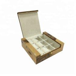 عالة [مدف] خشبيّة حبّة ورقة خشبيّة [متّ] صورة زيتيّة مستحضر تجميل مجوهرات هبة عرض تخزين يجعل يعبّئ فوق صندوق خزانة