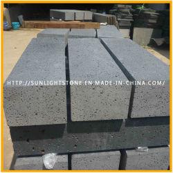Schnittfläche / geschliffen Schwarzer Basalt für Pflasterstein, Cubestone