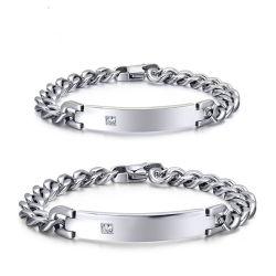 أزياء زوجين فاخرة 316L من الفولاذ المقاوم للصدأ Bracelet Armband للعشاق