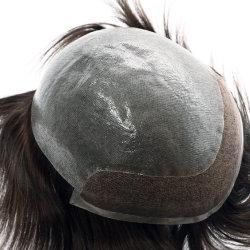 Repère naturel Men's Lace Front perruque de cheveux humains