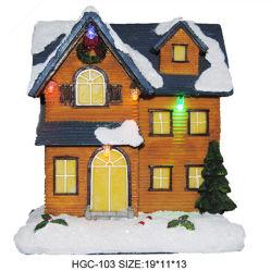 Figura Figurine della resina della neve della Camera di storia di natale 2