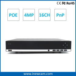 Hot H. 264 16CH 4MP Onvif Network CCTV Security DVR