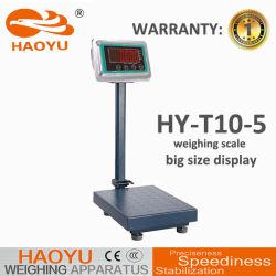 床のスケールのバランスの重量を量るデジタルプラットホーム