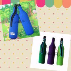 Isolation en néoprène de gros de boire du vin du couvercle du refroidisseur de bouteille avec Zip (BC0065)