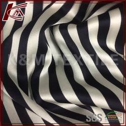 Печать с высоким пределом упругости шаблон полосы Raw шелк Атласная ткань