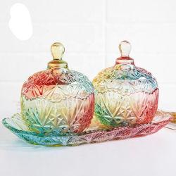 Última llegada de la calidad dulces Jarra de cristal con tapas de vidrio
